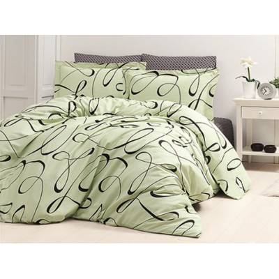 "Постельное бельё ""First Choice"" Cotton Satin  № 31 Calisto Yesil"